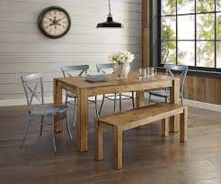 Walmart Kitchen Table Sets by Better Homes And Gardens Bryant Dining Table Rustic Brown