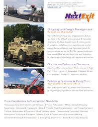 100 Always Trucking Heavy Hauling Capabilities Next Exit Logistics