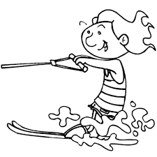 How To Draw Water Skiing Coloring Pages