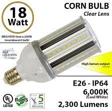 200w led replacement bulb uses bright 18 watt corn light ledradiant
