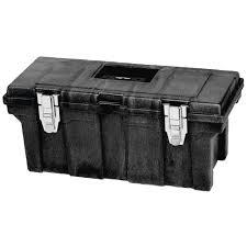 Rubbermaid Black Plastic Industrial Grade Tool Box - 26