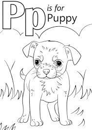 Click To See Printable Version Of Letter P Is For Puppy Coloring Page