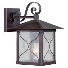 classic bronze one light 9 inch wide outdoor wall sconce with