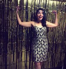 Foil Fringe Curtain Dollar Tree by Diy Photo Booth Black Wrapping Paper And Gold Foil Door Curtain