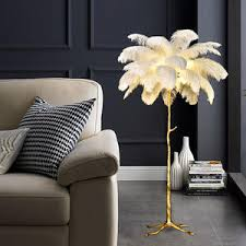 fabrik direkt verkauf hochwertige led stehle uchte hotel dekoration moderne palme ständer kupfer strauß stehle mit federn
