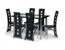 Upholstered Dining Chairs Set Of 6 by Exquisite Modern Dining Table With Chrome Single Base Feat