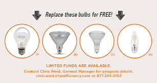 tpi efficiency announces free led in replacement program