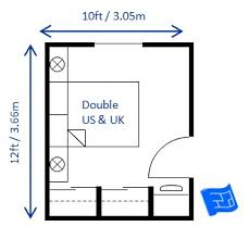 Small Bedroom Design Double 10 X 12ft