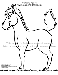 Free Online Coloring Pages Horse