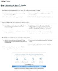 The Wound Dresser Summary by Quiz U0026 Worksheet Jack Prelutsky Study Com