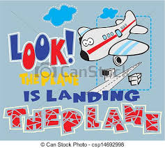 Cartoon Airplane Can Design T Shirts For Kids Eps Vectors