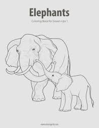 Elephants Coloring Book For Grown Ups 1