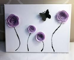Flower Wall Art Decor Contemporary Paper Flowers J Decal Creative