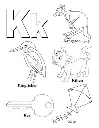 My A To Z Coloring Book Letter K Page