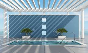 100 Contemporary Summer House With Pool Near The Sea Rendering Stock