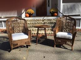 Heywood Wakefield Chairs Antique by Antique Heywood Wakefield Wicker Chair And Rocker At 1stdibs