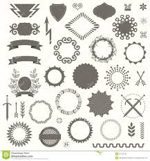 100 Art Deco Shape Set Of Vector Rative Elements In Vintage Style Stock