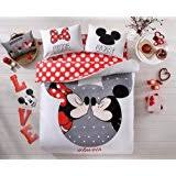 Minnie Mouse Queen Bedding by Amazon Com Mickey And Minnie Mouse King Queen Adults Cartoon