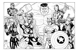 Unique Avengers Coloring Pages 50 With Additional Free Book