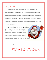 FREE printable letters from SANTA or letters to SANTA