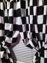 2 window curtain panels made from cotton nascar race or retro