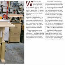 adjustable height worktable plans u2022 woodarchivist
