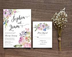Purple Boho Chic Invite Rustic Wedding Suite Bohemian Invitation RSVP Card Printable DIY