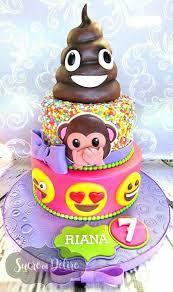 Totally awesome emoji cake
