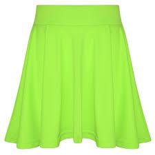amazon com new girls skater skirts fashion summer plain