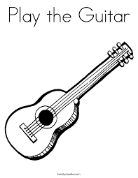 Play The Guitar Coloring Page