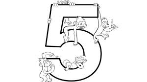 Five Little Monkeys Hanging Around Help Your Grandkids Practice Numbers With This Free Printable Coloring Page