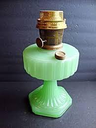 vintage antique rare aladdin jadeite green glass oil l shade w