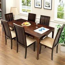 Dining Room Table With Six Chairs Modern Furniture A Manger