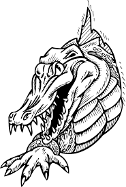 Detail Coloring Page Of Scary Alligator For Preschoolers