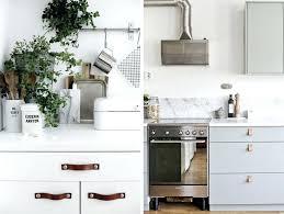 poignees meubles cuisine poignace de meuble en cuir poignee porte