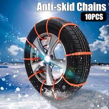 100 Truck Snow Tires 10PCS Car AntiSkid Tire Chains Adjustable Car Chains