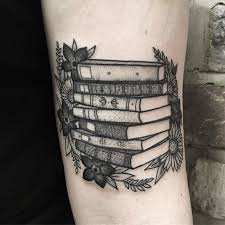 Tattoo Books And Flowers