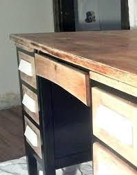 1952 oak teachers desk like the sanded top drawers vintage