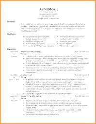 Sample Restaurant Server Resume With Waiter Samples