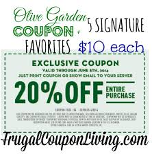Olive Garden Coupon  OFF the Entire Table $10 Favorites
