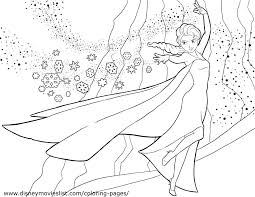 Free Coloring Pages Frozen Disney