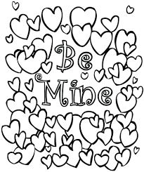 Valentines Coloring Pages Kids Valentine Books For Toddlers Bookmarks Printable Full Size
