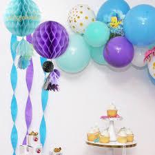 ALLHEARTDESIRES 15PCS Mixed Deep Blue Light Blue White Decorative Wicker Rattan Ball Boy Baby Shower Kids Birthday Royal Wedding Anniversary Party