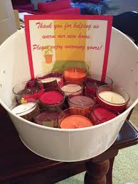 Housewarming Party Candle Favors Thank You For Warming Our New Home
