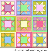 Quilt Eight Pointed Star Coloring Page