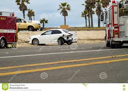 100 Fire Truck Accident Car With Blocking Road Stock Photo Image Of
