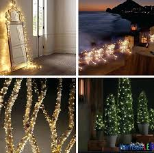 Tiny Led Light Strings Battery Operated Holiday Decor Lamp Mini Silver Copper Wire Invisible Fairy
