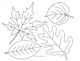 Fall Autumn Leaves Page Coloring Pages 9 12794