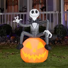 Halloween Yard Inflatables 2015 by Nightmare Before Christmas 5 U0027 Tall Disney Jack Skellington With