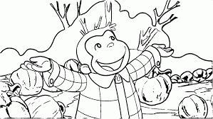 Printable Curious George Coloring Sheet For Adult